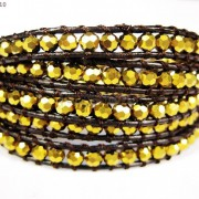 Hot-Colorful-Handmade-Mixed-Crystal-and-Gemstones-Beads-Wrap-Leather-Bracelet-370919965763-728e