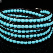 Hot-Colorful-Handmade-Mixed-Crystal-and-Gemstones-Beads-Wrap-Leather-Bracelet-370919965763-9236