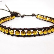 Hot-Colorful-Handmade-Mixed-Crystal-and-Gemstones-Beads-Wrap-Leather-Bracelet-370919965763-9a5b