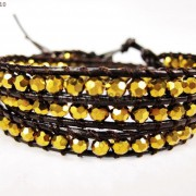 Hot-Colorful-Handmade-Mixed-Crystal-and-Gemstones-Beads-Wrap-Leather-Bracelet-370919965763-9d50