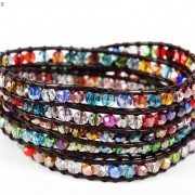 Hot-Colorful-Handmade-Mixed-Crystal-and-Gemstones-Beads-Wrap-Leather-Bracelet-370919965763-9f87