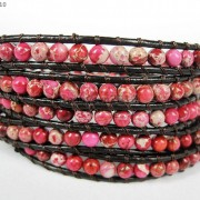Hot-Colorful-Handmade-Mixed-Crystal-and-Gemstones-Beads-Wrap-Leather-Bracelet-370919965763-b3c2