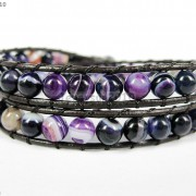 Hot-Colorful-Handmade-Mixed-Crystal-and-Gemstones-Beads-Wrap-Leather-Bracelet-370919965763-c2d7