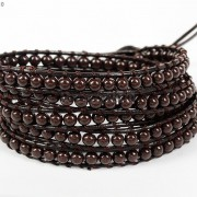 Hot-Colorful-Handmade-Mixed-Crystal-and-Gemstones-Beads-Wrap-Leather-Bracelet-370919965763-c5d7