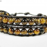 Hot-Colorful-Handmade-Mixed-Crystal-and-Gemstones-Beads-Wrap-Leather-Bracelet-370919965763-d1f8