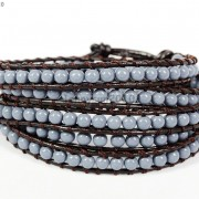 Hot-Colorful-Handmade-Mixed-Crystal-and-Gemstones-Beads-Wrap-Leather-Bracelet-370919965763-d424