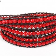 Hot-Colorful-Handmade-Mixed-Crystal-and-Gemstones-Beads-Wrap-Leather-Bracelet-370919965763-dbbf