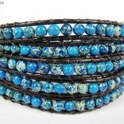 Hot-Colorful-Handmade-Mixed-Crystal-and-Gemstones-Beads-Wrap-Leather-Bracelet-370919965763-e9da
