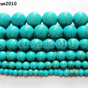 Howlite-Turquoise-Gemstone-Round-Loose-Beads-15-4mm-6mm-8mm-10mm-12mm-14mm-251086242451