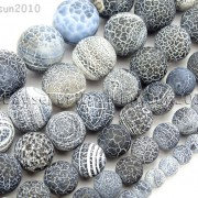 Matte-Frosted-Black-Fire-Crackle-Agate-Gemstones-Round-Beads-15-6mm-8mm-10mm-262198152811