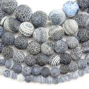 Matte-Frosted-Black-Fire-Crackle-Agate-Gemstones-Round-Beads-15-6mm-8mm-10mm-262198152811-2