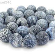 Matte-Frosted-Black-Fire-Crackle-Agate-Gemstones-Round-Beads-15-6mm-8mm-10mm-262198152811-4
