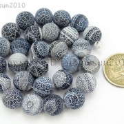 Matte-Frosted-Black-Fire-Crackle-Agate-Gemstones-Round-Beads-15quot-6mm-8mm-10mm-262198152811-8c33