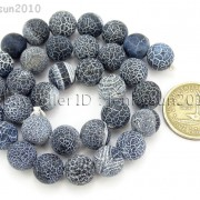 Matte-Frosted-Black-Fire-Crackle-Agate-Gemstones-Round-Beads-15quot-6mm-8mm-10mm-262198152811-9d38
