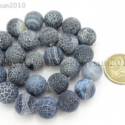 Matte-Frosted-Black-Fire-Crackle-Agate-Gemstones-Round-Beads-15quot-6mm-8mm-10mm-262198152811-bf0f
