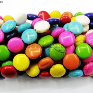 Mix-Color-Howlite-Turquoise-Side-Ways-12mm-Round-Candy-Spacer-Beads-16-Strand-251106197625