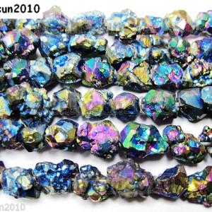 Multi-Colored-Metallic-Titanium-Coated-Natural-Quartz-Crystal-Druzy-Beads-16-261156312785