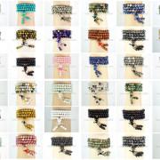 Natural-6mm-Gemstone-Buddhist-108-Beads-Prayer-Mala-Stretchy-Bracelet-Necklace-371631549219