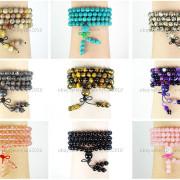Natural-6mm-Gemstone-Buddhist-108-Beads-Prayer-Mala-Stretchy-Bracelet-Necklace-371631549219-5
