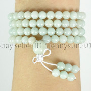 Natural-6mm-Gemstone-Buddhist-108-Beads-Prayer-Mala-Stretchy-Bracelet-Necklace-371631549219-5fb7
