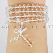 Natural-6mm-Gemstone-Buddhist-108-Beads-Prayer-Mala-Stretchy-Bracelet-Necklace-371631549219-7b7c
