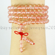 Natural-6mm-Gemstone-Buddhist-108-Beads-Prayer-Mala-Stretchy-Bracelet-Necklace-371631549219-7c2f