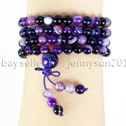 Natural-6mm-Gemstone-Buddhist-108-Beads-Prayer-Mala-Stretchy-Bracelet-Necklace-371631549219-c64a