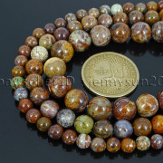 Natural-African-Green-Brown-Opal-Gemstone-Round-Beads-155-6mm-8mm-10mm-12mm-371824296497-4