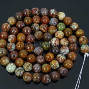 Natural-African-Green-Brown-Opal-Gemstone-Round-Beads-155039039-6mm-8mm-10mm-12mm-371824296497-36aa