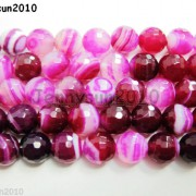 Natural-Agate-Gemstone-Faceted-Round-Beads-155-6mm-8mm-10mm-Pink-With-Stripe-251109293431-3