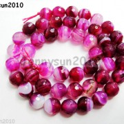 Natural-Agate-Gemstone-Faceted-Round-Beads-155039039-6mm-8mm-10mm-Pink-With-Stripe-251109293431-18bd