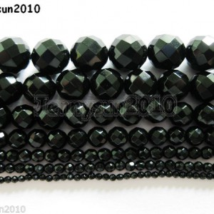 Natural-Black-Onyx-Gemstone-Faceted-Round-Beads-2mm-3mm-4mm-6mm-8mm-10mm-12mm-261042605836