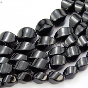 Natural-Black-Onyx-Gemstone-Swirl-Twisted-Drum-Beads-155-6mm-8mm-10mm-12mm-370954100492