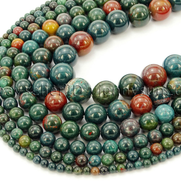 Natural-Blood-Stone-Gemstone-Round-Spacer-Beads-155-4mm-6mm-8mm-10mm-12mm-282323681030