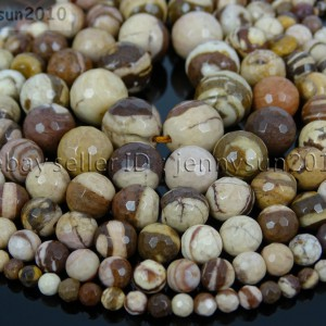 Natural-Brown-Zebra-Gemstone-Faceted-Round-Beads-15-4mm-6mm-8mm-10mm-12mm-14mm-261301165956