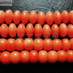 Natural-Coral-Gemstone-5x7mm-5x8mm-Rondelle-Loose-Beads-Orange-16-Strand-261228140199