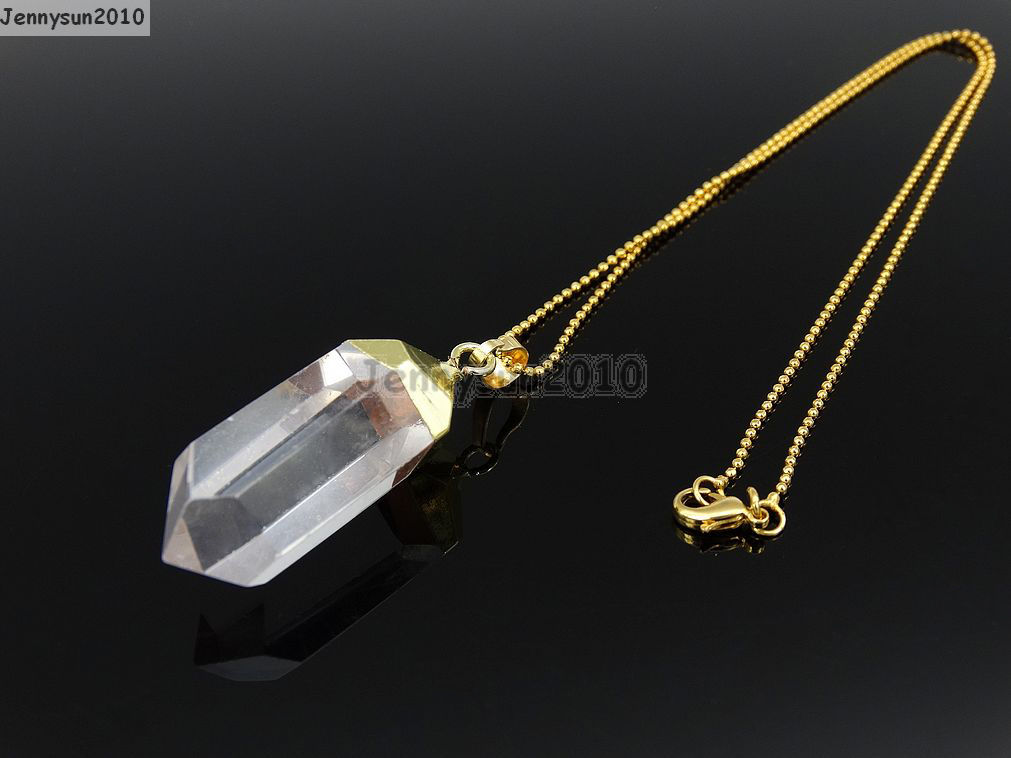 natural product image crystal products hexagonal zousez pendant