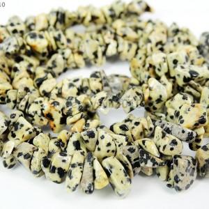 Natural-Dalmation-Spots-Gemstone-5-8mm-Chip-Spacer-Beads-35-Bracelet-Necklace-281152441975