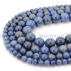 Natural-Dumortierite-Gemstone-Round-Spacer-Beads-155-6mm-8mm-10mm-12mm-282317113539