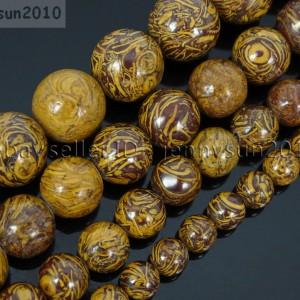 Natural-Elephant-Skin-Jasper-Gemstone-Round-Beads-155-6mm-8mm-10mm-12mm-371570201954