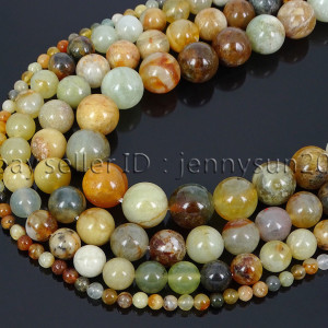 Natural-Flower-Jade-Gemstone-Round-Loose-Beads-155-4mm-6mm-8mm-10mm-12mm-371824999752