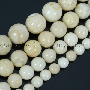 Natural-Fossil-River-Stone-Gemstone-Round-Loose-Beads-155-6mm-8mm-10mm-12mm-371690454636