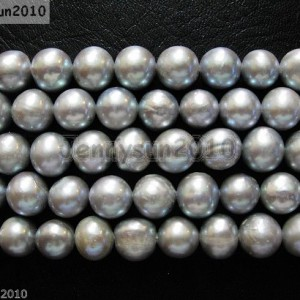 Natural-Freshwater-Pearl-Freeformed-Potato-Loose-Beads-9mm-10mm-Grey-15-370950381114