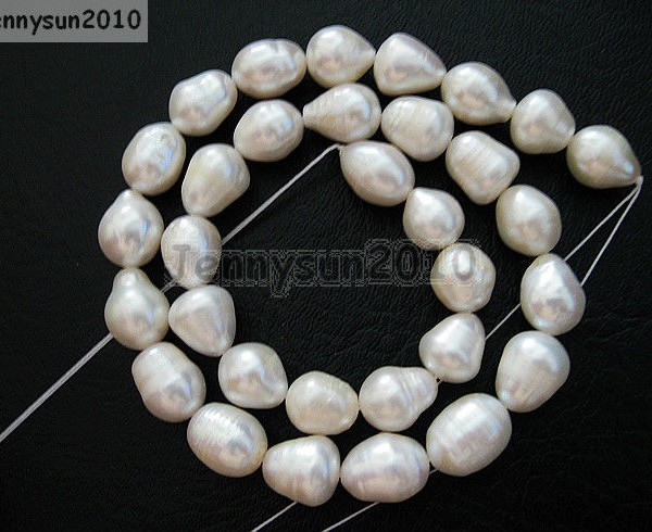 """FREE SHIPPING Fresh Water Natural Rice Pearl Beads Size 5-7mm 13.5/"""" Strand"""