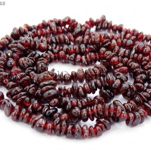 Natural-Garnet-Gemstone-5-8mm-Chip-Nugget-Spacer-Loose-Beads-35-Jewelry-Crafts-370878744887