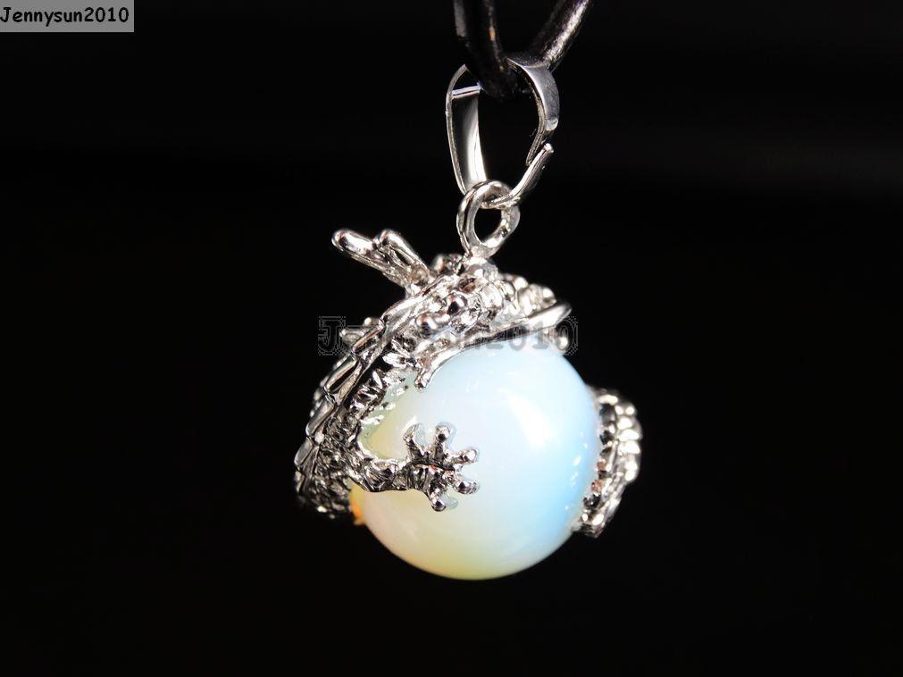 Natural Gemstone Dragon Round Ball Reiki Chakra Healing