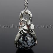 Natural-Gemstone-Round-Ball-Eagle-Claw-Falcon-Talons-Healing-Pendant-Charm-Bead-262762610662-0b80