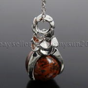 Natural-Gemstone-Round-Ball-Eagle-Claw-Falcon-Talons-Healing-Pendant-Charm-Bead-262762610662-5141
