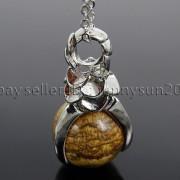 Natural-Gemstone-Round-Ball-Eagle-Claw-Falcon-Talons-Healing-Pendant-Charm-Bead-262762610662-67e5