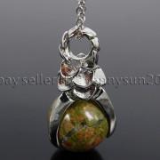 Natural-Gemstone-Round-Ball-Eagle-Claw-Falcon-Talons-Healing-Pendant-Charm-Bead-262762610662-8351